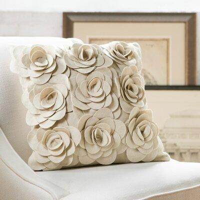 Ambrosia Wool Pillow Cover Color: Parchment, Size: 18 H x 18 W x 4 D