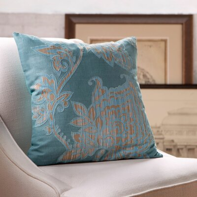 Penelope Pillow Cover Size: 18 x 18, Color: Teal