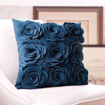 Ambrosia Wool Pillow Cover Color: Teal, Size: 22 H x 22 W x 4 D