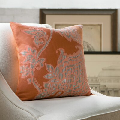 Penelope Pillow Cover Size: 18 x 18, Color: Tangerine