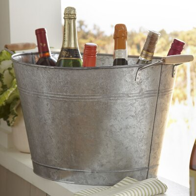 Cawley Beverage Tub Finish: Galvanized Steel
