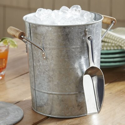 Cawley Ice Bucket with Scoop Finish: Galvanized Steel
