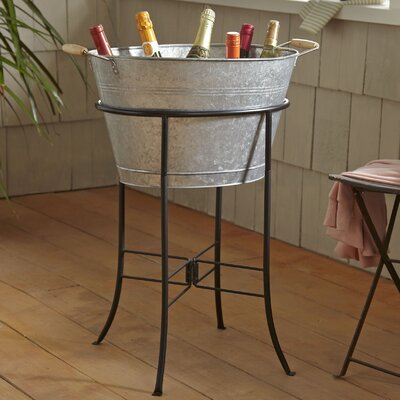 Cawley Beverage Tub with Stand Finish: Galvanized Steel