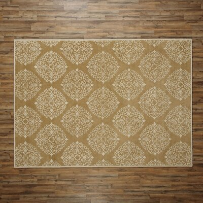 Reese Mustard Rug Rug Size: Rectangle 8 x 11