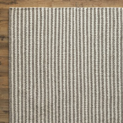 Kathryn Hand-Woven Gray Area Rug Rug Size: Rectangle 33 x 53