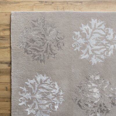 Mackenzie Hand-Woven Stone Area Rug Rug Size: Rectangle 2 x 3