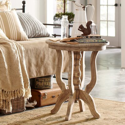 Merrick Pedestal Table Color: Natural Wood