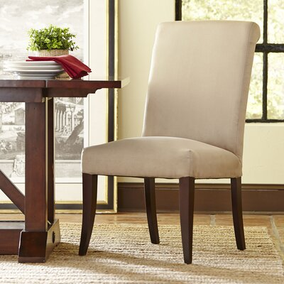 London Rolled-Back Side Chair Upholstery: Dawson Microfiber