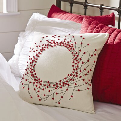 Bailey Beaded Wreath Pillow Cover Design: Wreath