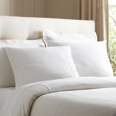 Lola 3 Piece Duvet Set Size: King, Color: White