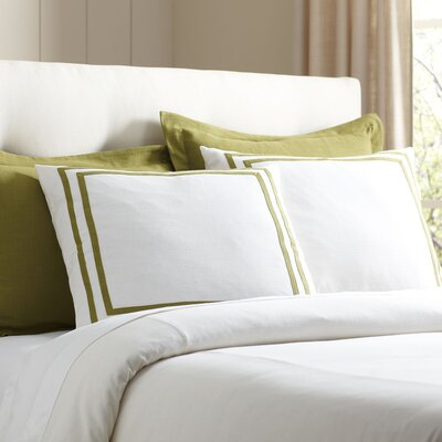 Lola Bedding Euro Sham Color: Fern