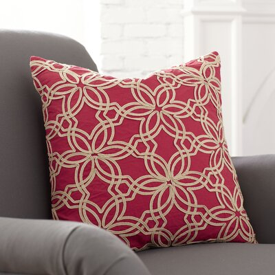Zena Pillow Cover Color: Red