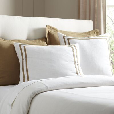 Lola Bedding Euro Sham Color: Flax