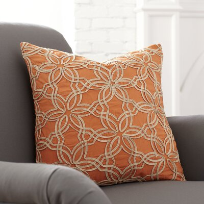 Zena Pillow Cover Color: Tangerine
