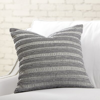 Minerva Beaded Pillow Cover Color: Stone