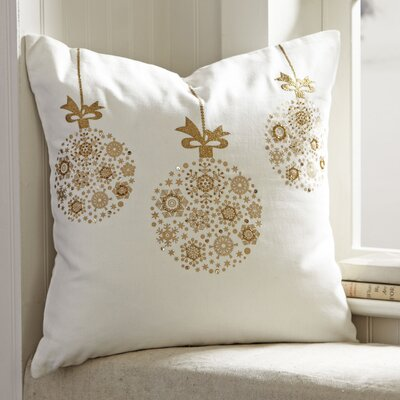 Lyra Ornament Pillow Cover Color: White