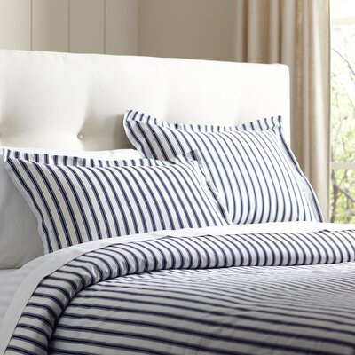 Saige Duvet Set Size: King, Color: Navy