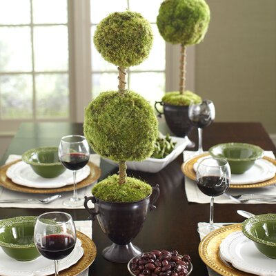Latham Preserved Moss Double Topiary