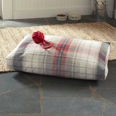 Gifford Pet Bed, Red Plaid Size: Large