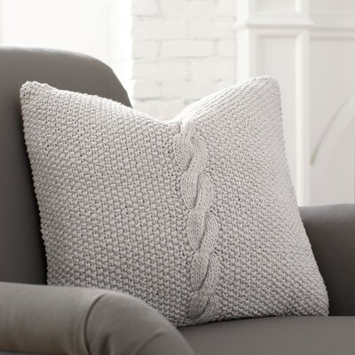 Peyton Pillow Cover Color: Stone, Size: 20 H x 20 W x 1 D