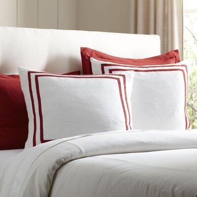 Lola Bedding Euro Sham Color: Cardinal