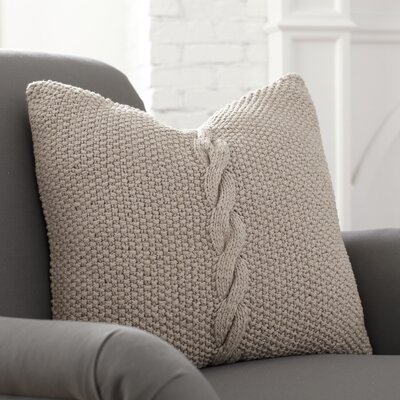 Peyton Pillow Cover Color: Putty, Size: 22 H x 22 W x 1 D