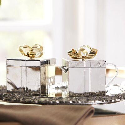 Golden Bow Sugar & Creamer Set