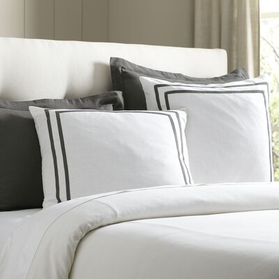Lola Bedding Euro Sham Color: Pewter