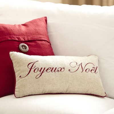 Joyeux Embroidered Lumbar Pillow