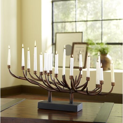 Burnished Candlestick Holder