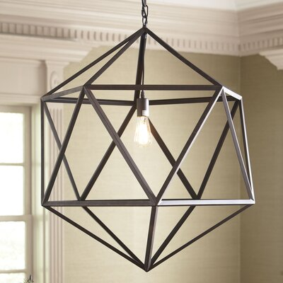 Glaser 1-Light Mini Pendant Size: Large