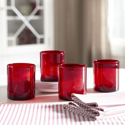 Cerise Lowball Glasses