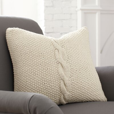 Peyton Pillow Cover Color: Parchment, Size: 18 H x 18 W x 1 D