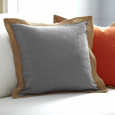 Cadence Jute Trim Pillow Cover Size: 18 x 18, Color: Pewter