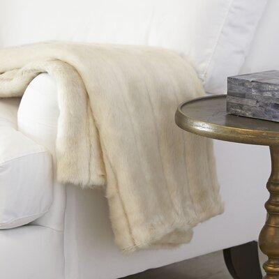 Norma Faux Fur Throw Color: Parchment