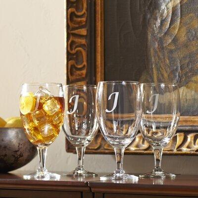 Monogrammed Water Goblets