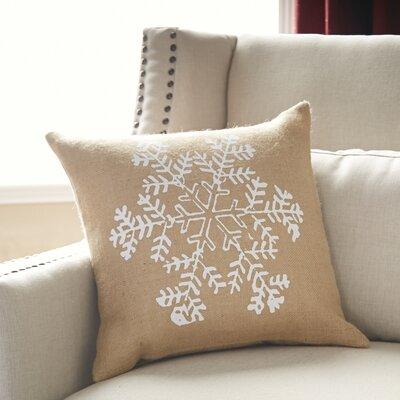 Snowfall Burlap Pillow Cover Color: Natural