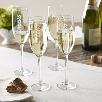 Birch Lane Cheers Champagne Flutes