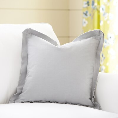 Joelle Pillow Cover Color: Stone, Size: 20 x 20