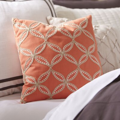 Edith Embroidered Pillow Cover Color: Cantaloupe