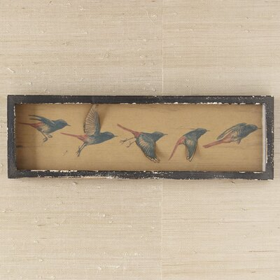Flying Birds Framed on Wood