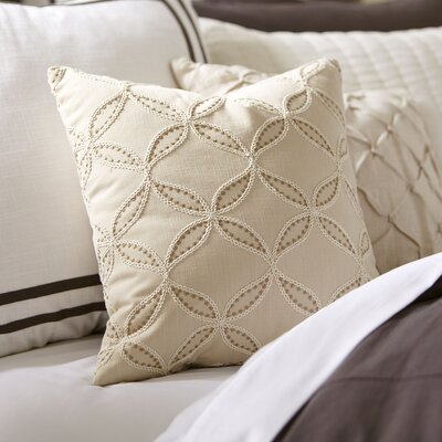 Edith Embroidered Pillow Cover Color: Natural