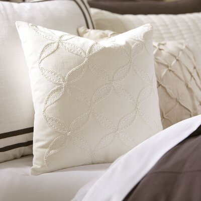 Edith Embroidered Pillow Cover Color: White