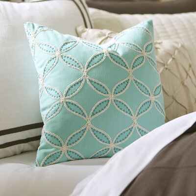 Edith Embroidered Pillow Cover Color: Pool