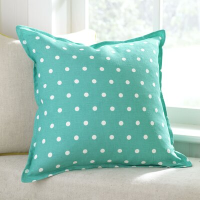 Shiloh Linen Pillow Cover Color: Teal, Size: 18 x 18