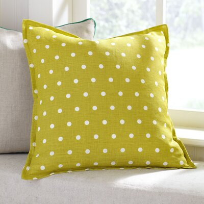 Shiloh Linen Pillow Cover Color: Lemongrass, Size: 18 x 18