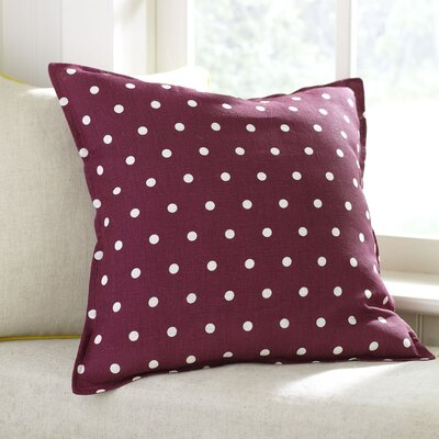 Shiloh Linen Pillow Cover Color: Raspberry, Size: 18 x 18