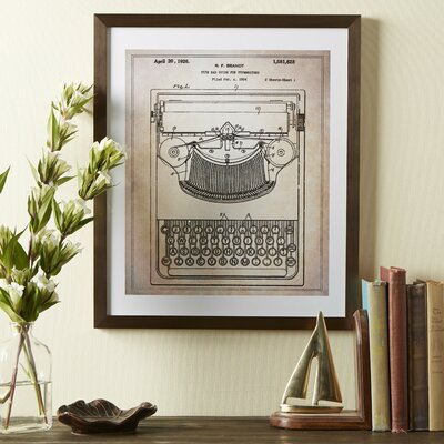 Typewriter Framed Blueprint