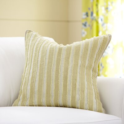 Blanche Linen Pillow Cover Color: Butter, Size: 22 x 22