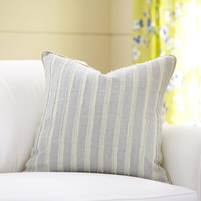 Blanche Linen Pillow Cover Size: 22 x 22, Color: Stone